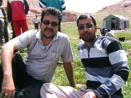از راست به چپ: دكتر رستم پور و اينجانب: م.علي آبادي